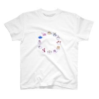 集合 12星座文鳥 T-shirts
