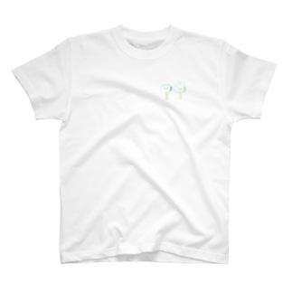 うさぎとくまの棒アイス T-shirts