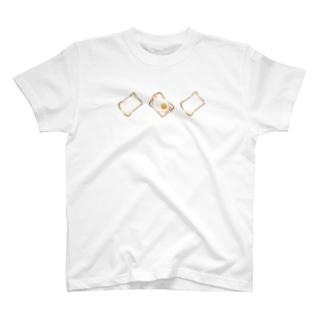 しょくぱん /white T-shirts