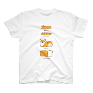 パンとうさぎとコーギーと T-shirts