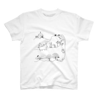 ロバの道 T-shirts