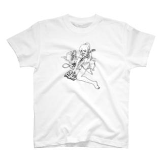 guitar_rensyuu_GIRL_01 T-shirts