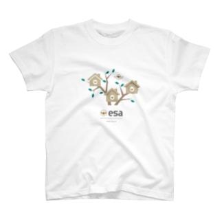 (\( ⁰⊖⁰)/) esaのesa(\( ⁰⊖⁰)/) シャタク T-shirts