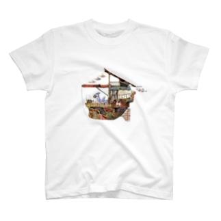飛行船ウミウシ T-shirts