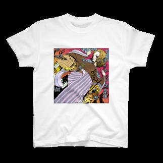 ひのもとめぐる/ひのまる航空の梅田さんと通天閣 T-shirts