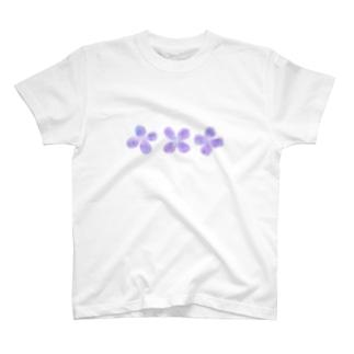 ぼんやりお花 T-shirts