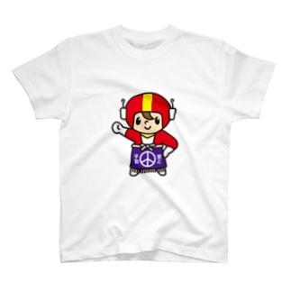 ポポのお店の 前掛け正義のヒーロー君 T-shirts