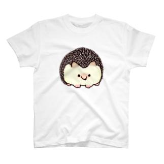 針まで愛して欲しいヨツユビハリネズミ(ソルトアンドペッパー) T-shirts