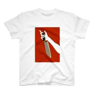 赤のドス T-shirts