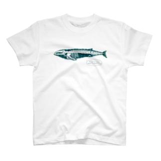 クジラの骨格 T-shirts