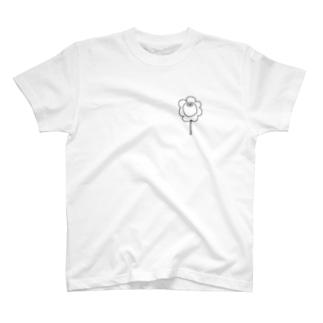 世間知らずフラワー T-shirts