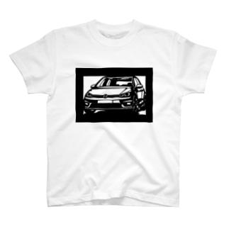 Volkswagen Golf切り絵デザイン T-shirts