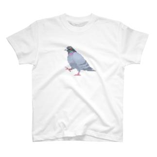 歩いてる鳩 T-shirts