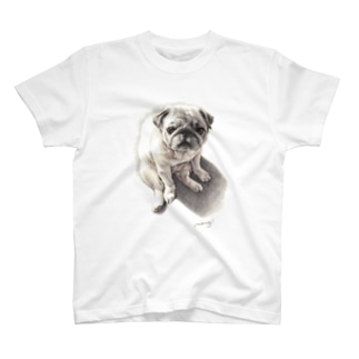 Momojiの犬画のパグ2 T-shirts