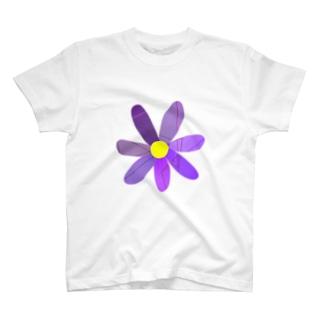 紫の花 T-Shirt