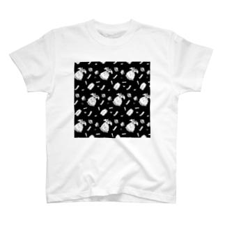 バラバラドール モノクロ T-shirts