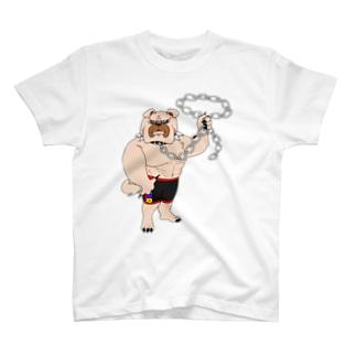 筋肉ブルドッグ T-shirts