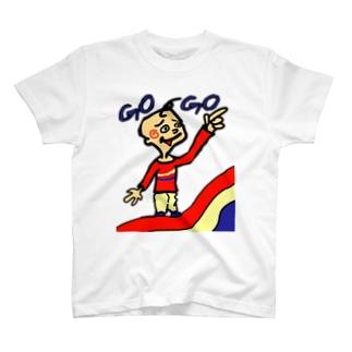 歪な虹に乗ってる少年 T-shirts