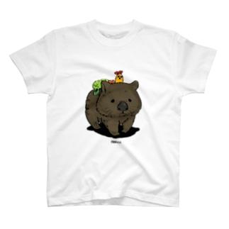 ウォンバットに乗って T-shirts