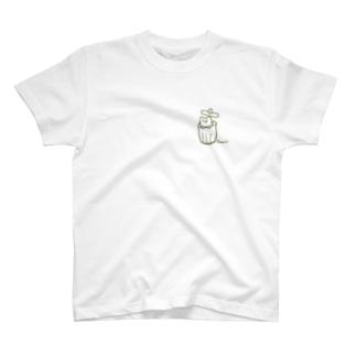 さみしい猫(緑) T-shirts