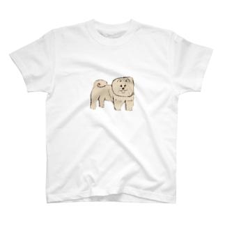 ふわふわ犬 T-shirts