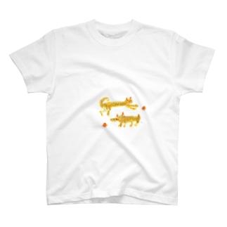 ネコとワンコ T-shirts
