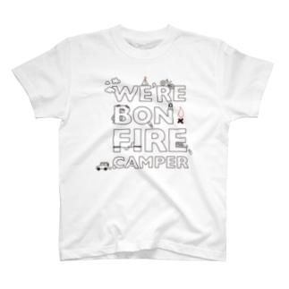 awのWe're Bonfire Camper T-shirts