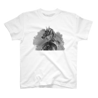 馬の絵の画家 斉藤いつみの馬の素描Tシャツ4 T-shirts