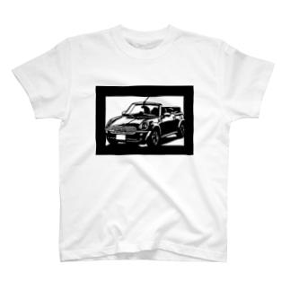 BMW miniカブリオレ切り絵デザイン T-shirts