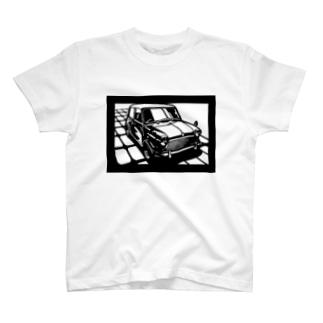 モーリスmini切り絵デザイン T-shirts