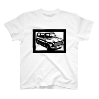 モーリスminiマイナーMk1切り絵デザイン T-shirts