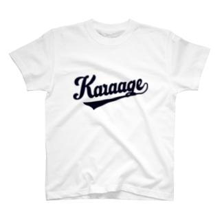唐揚げベースボール T-shirts