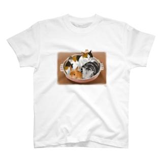 猫・うさぎ・ハムスター鍋 T-shirts