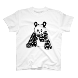 都会でメガバンク検索したみたいなパンダ T-shirts