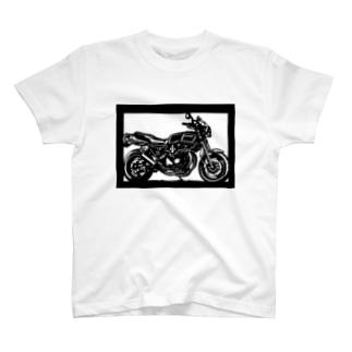 KAWASAKI Z750FX切り絵デザイン T-shirts