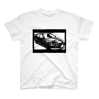 HONDA アコードユーロ切り絵デザイン T-shirts