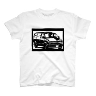 CHEVROLET アストロ切り絵デザイン T-shirts