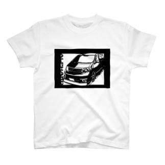 TOYOTA アルファード 切り絵デザイン1 T-shirts