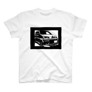 HONDA ライフダンク切り絵デザイン T-shirts