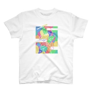 祈りを華を-彩 T-shirts