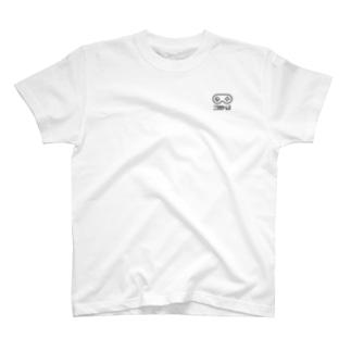 NIWAKA-WHITE ワンポイントTシャツ T-shirts