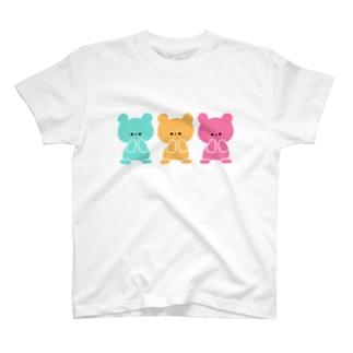 3色くまちゃん T-shirts