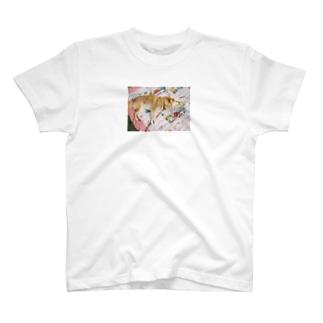 お昼寝をする犬 T-shirts