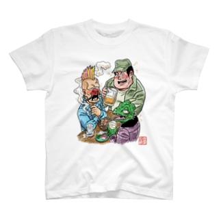 酒宴の三匹(カラー) T-shirts