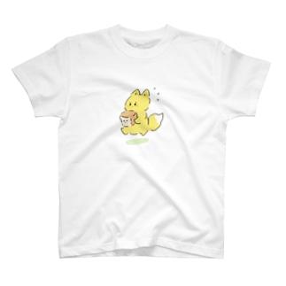 お急ぎのキツネ T-shirts