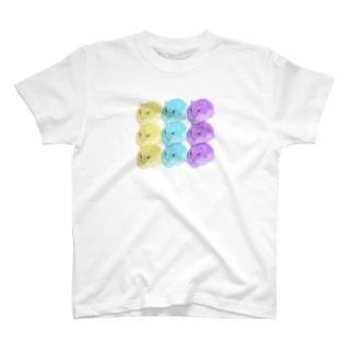 ハムスター3原色 T-shirts