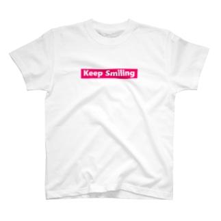 Keep Smiling バックプリント T-shirts
