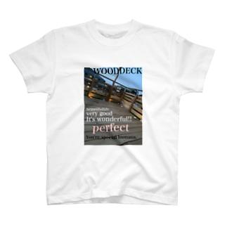 神戸英雄斗のウッドデッキプリ T-shirts