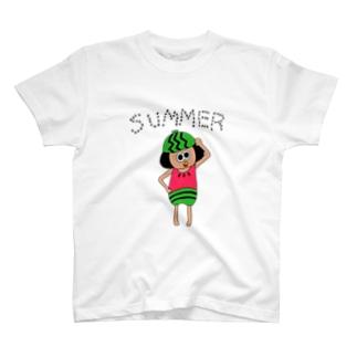 日焼けスイカちゃん T-shirts