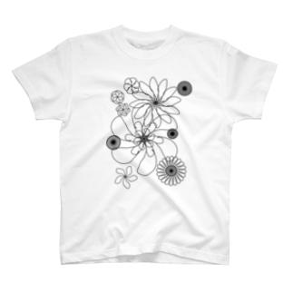 hanaモノクロ T-shirts